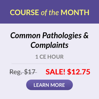 Course of the Month - Common Pathologies & Complaints