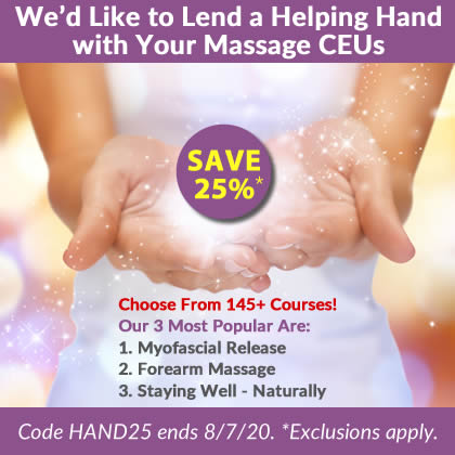 Save 25% on Massage CE