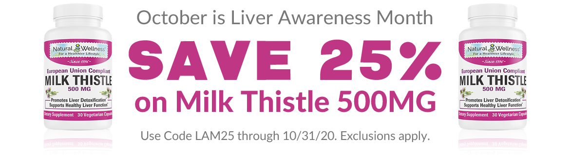 Save 25% on Milk Thistle 500MG