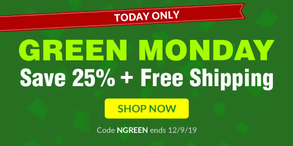Save 25% + Free Shipping