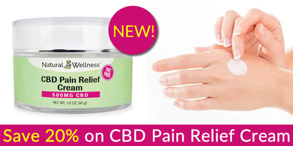 Save 20% on CBD Pain Relief Cream