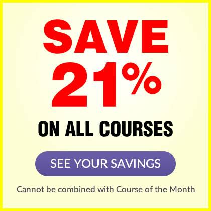 Save 21% on ALL courses