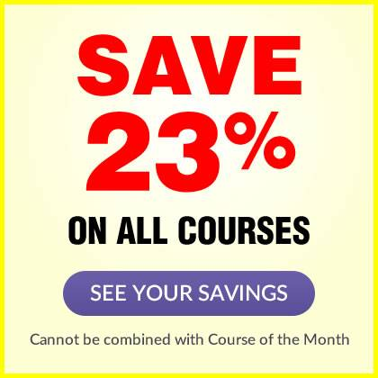 Save 23% on ALL courses