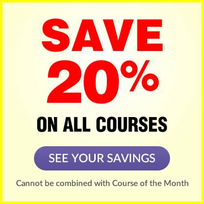 Save 20% on ALL courses