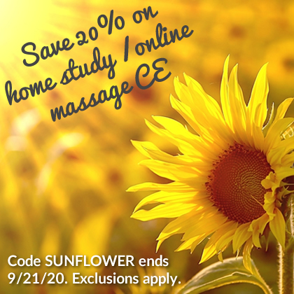 Save 20% on Massage CE