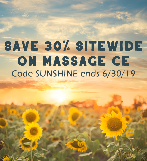 Save 30% on Home Study Massage CE