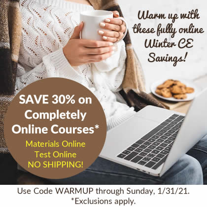 Save 30% on Online CE Courses