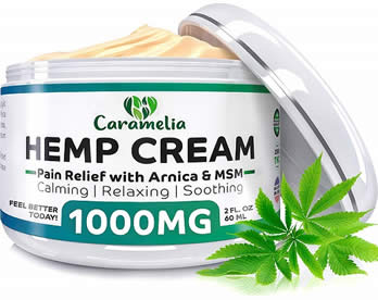 caramelia hemp cream front label