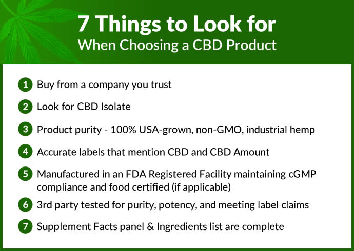 7 Things to Look For When Choosing a CBD Product