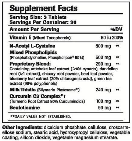 Clinical LiverSupport Ingredients