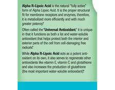 Alpha R-Lipoic Acid - Label