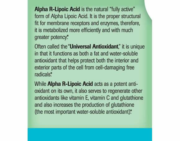 Alpha R-Lipoic Acid - Label Large