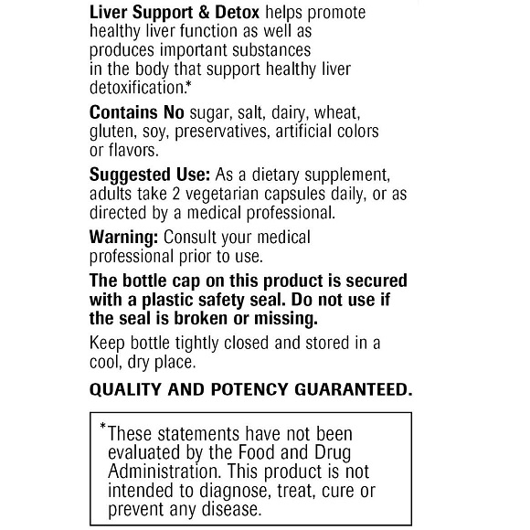 Liver Support & Detox Large