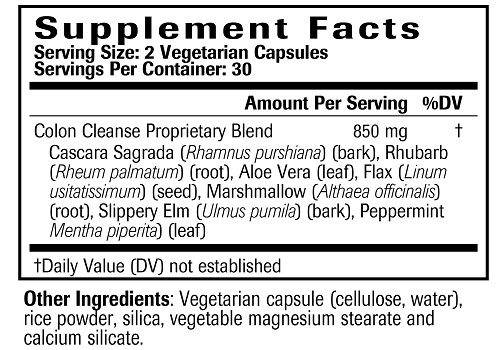 Colon Cleanser Ingredients
