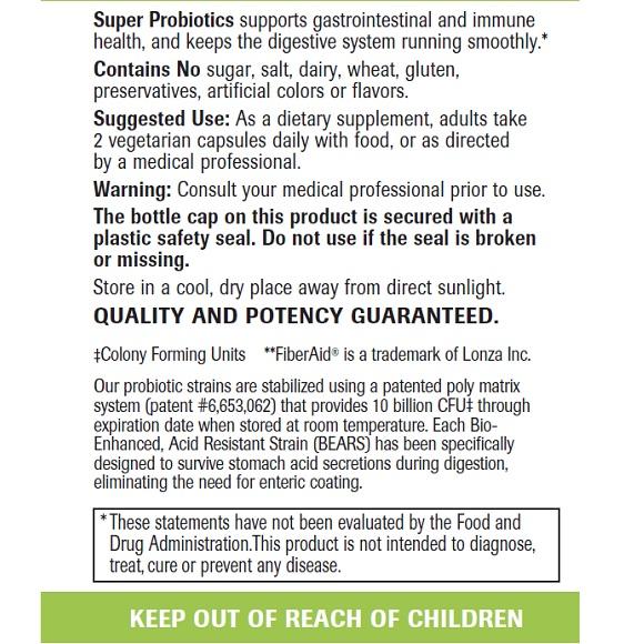Super Probiotics - Label Large