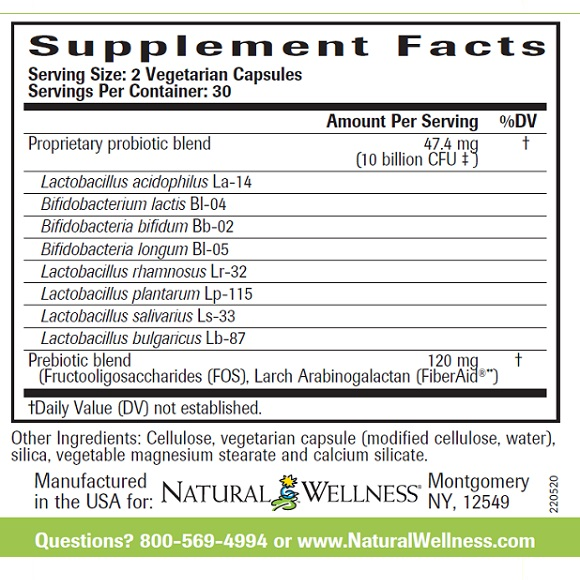 Super Probiotics - Supplement Facts Large