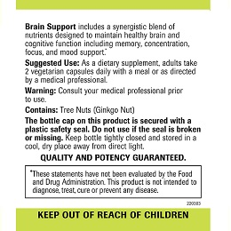 Brain Support - Label