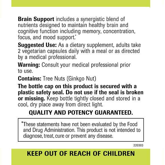 Brain Support - Label Large