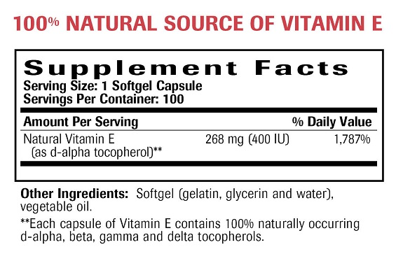 Natural Vitamin E Ingredients