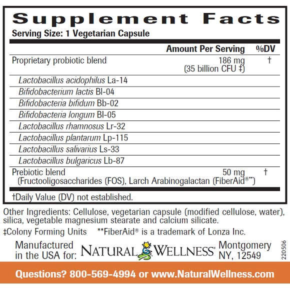 Ultra Probiotic Formula - Supplement Facts