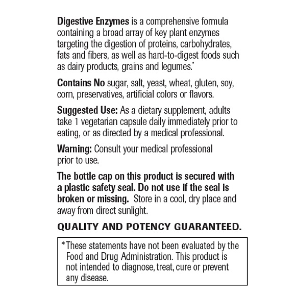 Digestive Enzymes - Label Large