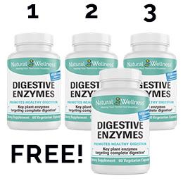 Digestive Enzymes Buy 3 Get 1 Free