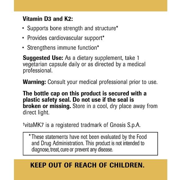 Vitamin D3 + K2 Large