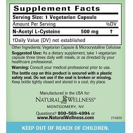 NAC - Supplement Facts