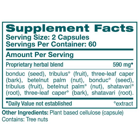 ProstaCare - Supplement Facts Large