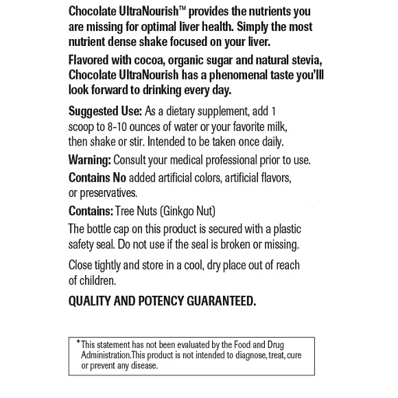 Chocolate UltraNourish - Label