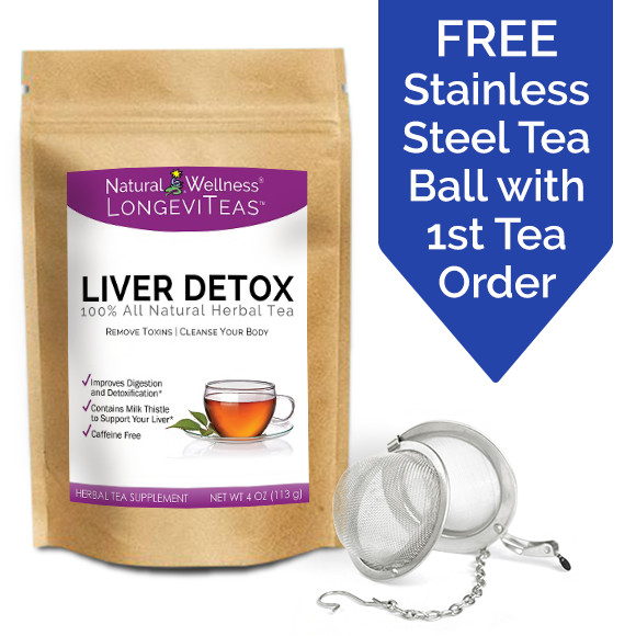 Liver Detox Tea - Package and Tea Ball
