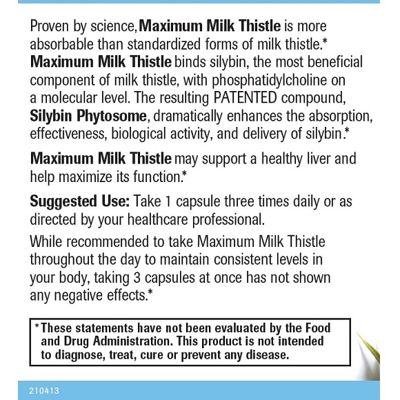 Maximum Milk Thistle - Label Large