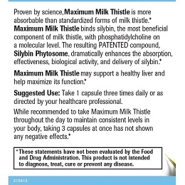 Maximum Milk Thistle - Label