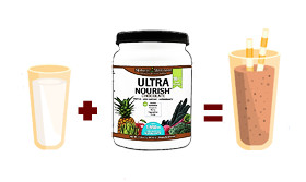 Just 2 ingredients for a healthy Chocolate UltraNourish Shake